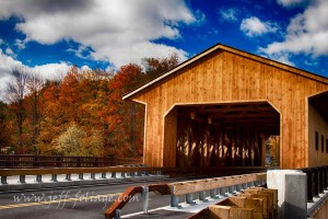 Pepperell covered bridge Massachusetts found on a scenic drive