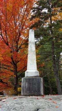 Cenotaph of Samuel Hidden in Tamworth New Hampshire.