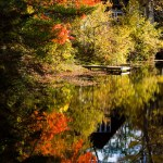 Fall foliage reflections, New England Photography