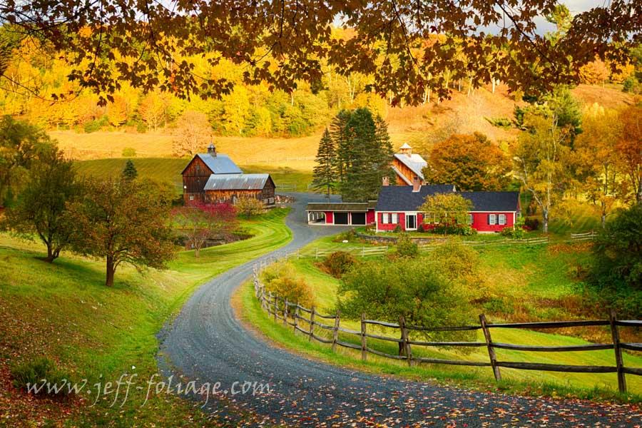 Vermont Fall Farm Wallpaper Vermont Fall Foliage Gallery