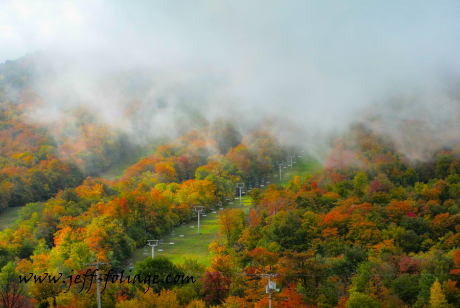 New England Photography of Jay Peak in Vermont with early Vermont fall foliage colors