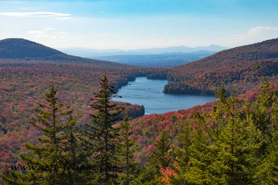 Kettle pond view from Owls head mountain with New England Photography
