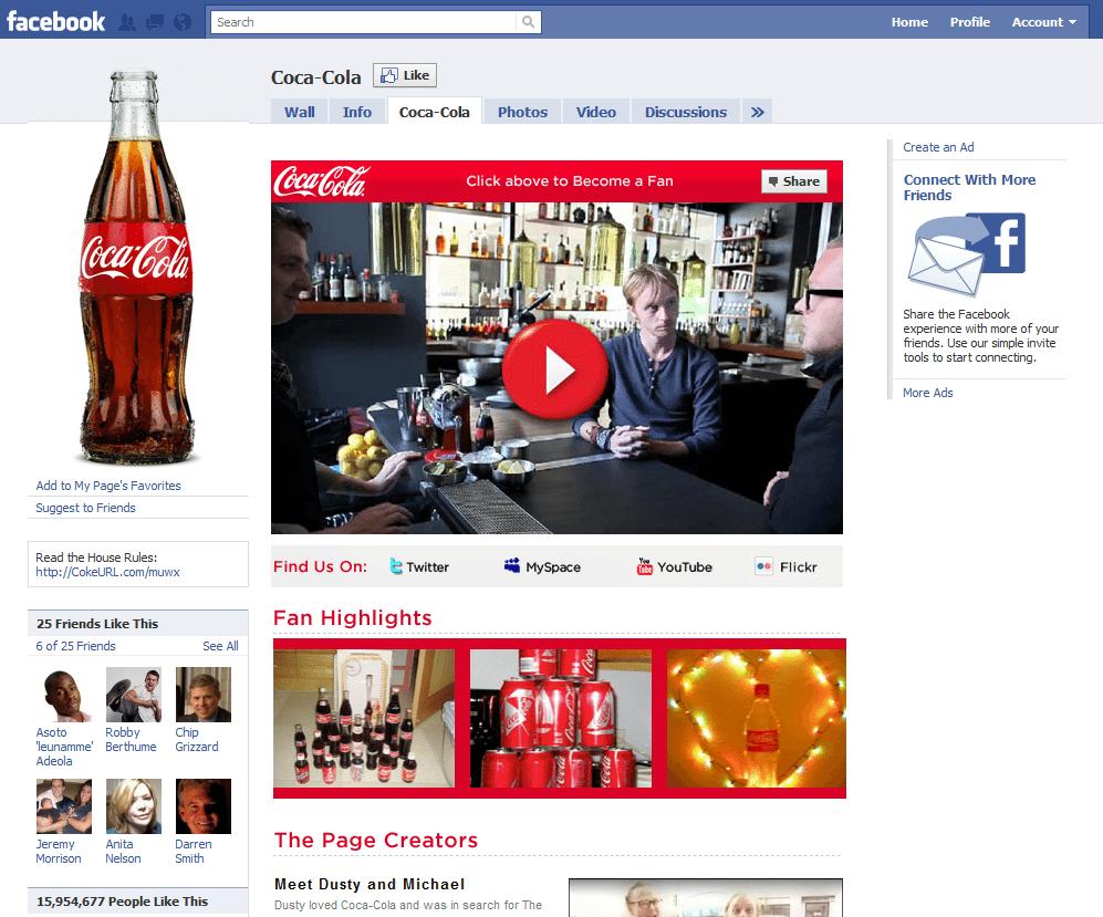 Facebook Page 13 Coca Cola