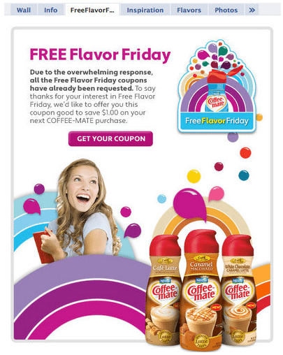 Coffee-Mate Facebook Free Flavor Friday