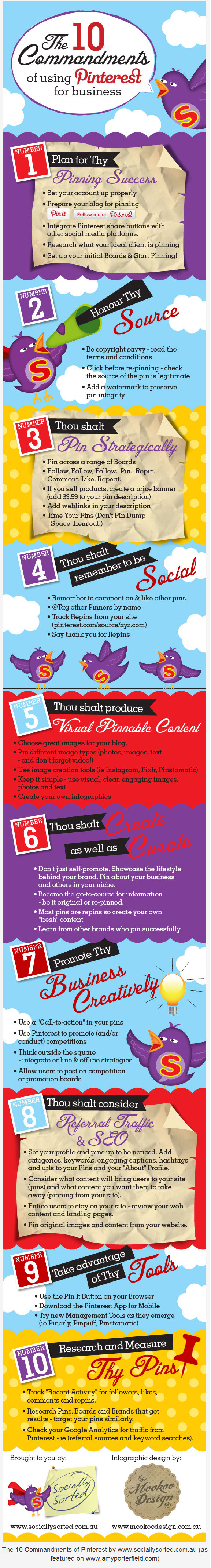 10 Top Tips for Marketing your Business on Pinterest infographic