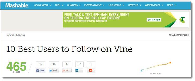 Mashable Making money from Blogging Case Study Advertising