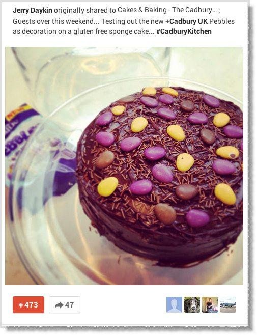 Cadbury Google+ page