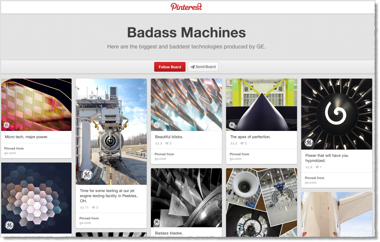 GE Badass machines Pinterest