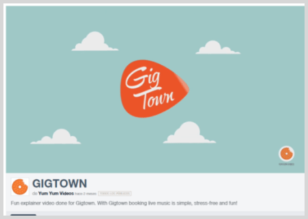 Gigtown brand in explainer video