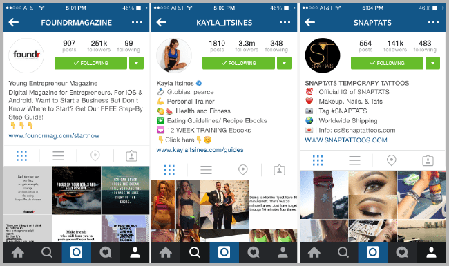 not following your followers - example of Instagram marketing mistakes