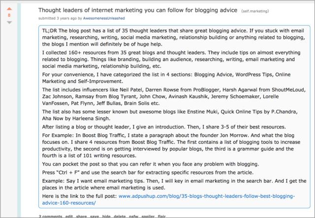 reddit for content promotion strategies