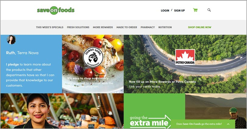 Color psychology Green like SaveOnFoods for color in web design