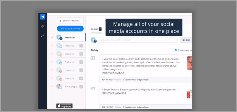 Buffer platform Twitter tools