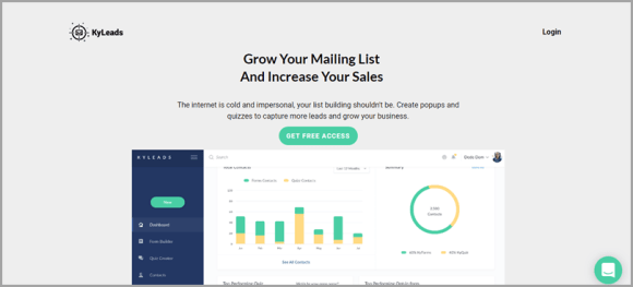 قم بتنمية قائمتك البريدية وزد من مبيعاتك باستخدام برنامج اختبار العملاء المحتملين عبر الإنترنت من KyLeads