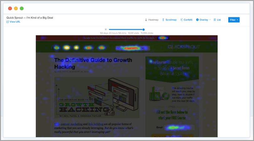 Crazy-Egg-Heatmap-Tracking-outil de commerce électronique