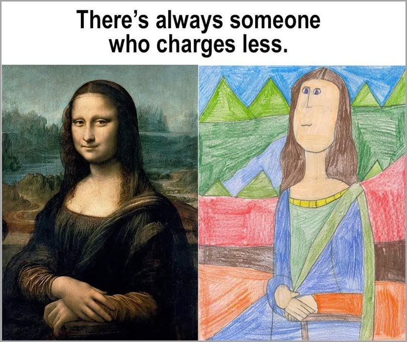 content-marketing-metrics-mona-lisa-there's-always-someone-who-charges-less