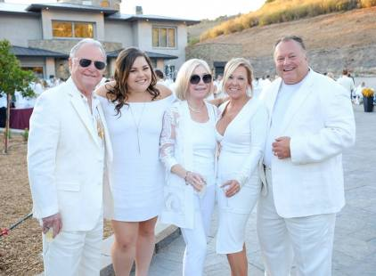 Jeff with Family at the 2017 White Party Benefiing the Kinship Center!