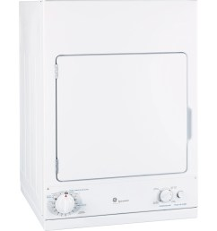 ge spacemaker front load electric dryer white dsks433ebww [ 2400 x 2500 Pixel ]