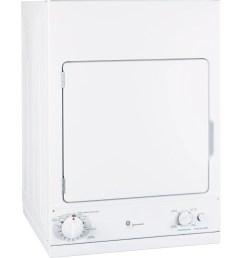 ge spacemaker front load electric dryer white dsks433ebww [ 2400 x 2500 Pixel ]