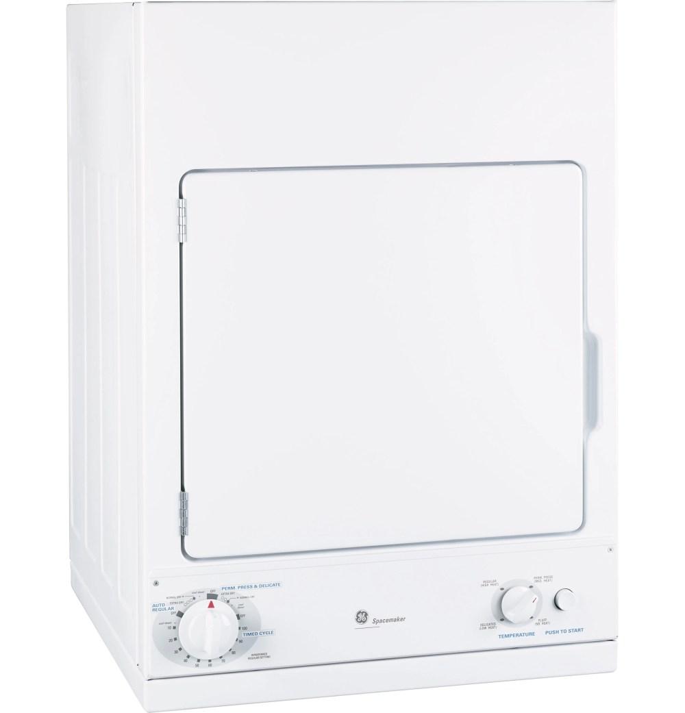medium resolution of ge spacemaker front load electric dryer white dsks433ebww