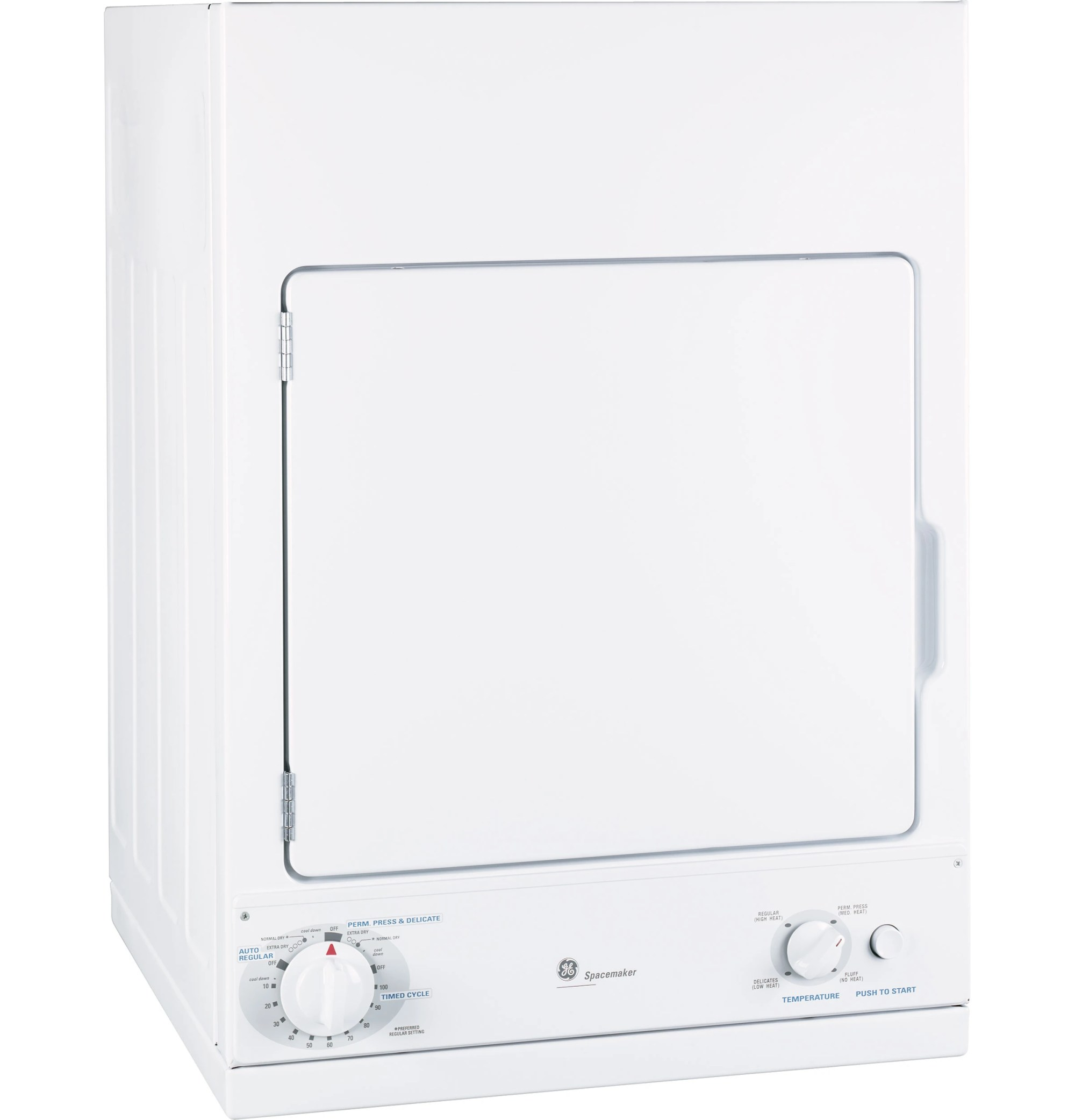 hight resolution of ge spacemaker front load electric dryer white dsks433ebww