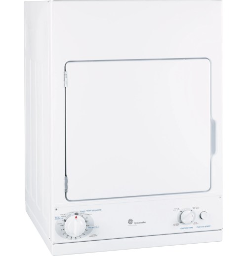 small resolution of ge spacemaker front load electric dryer white dsks433ebww