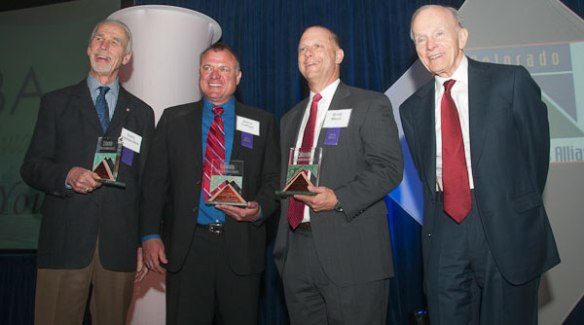 Dr. Gary VanderArk (left) won the 2012 CEBA Bill Daniels Business Ethics Award.