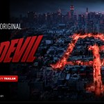 Netflix Daredevil promo shot with street lights forming the