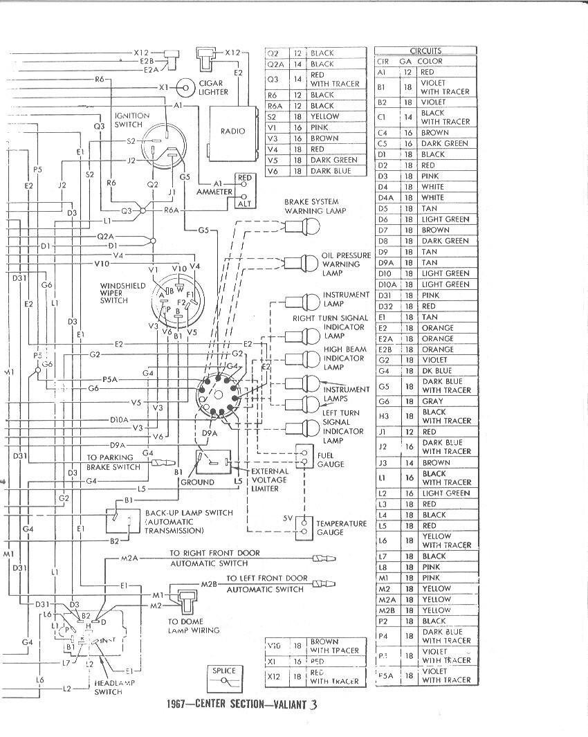 Wiring Diagram For Ignition Switch Of 1964 Barracuda : 52
