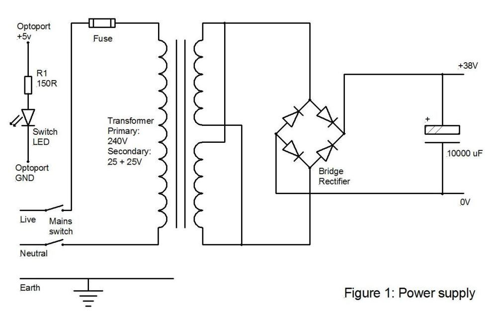 medium resolution of the rest of the wiring for the power supply is pretty straightforward however take care to connect the bridge rectifier correctly and the electrolytic