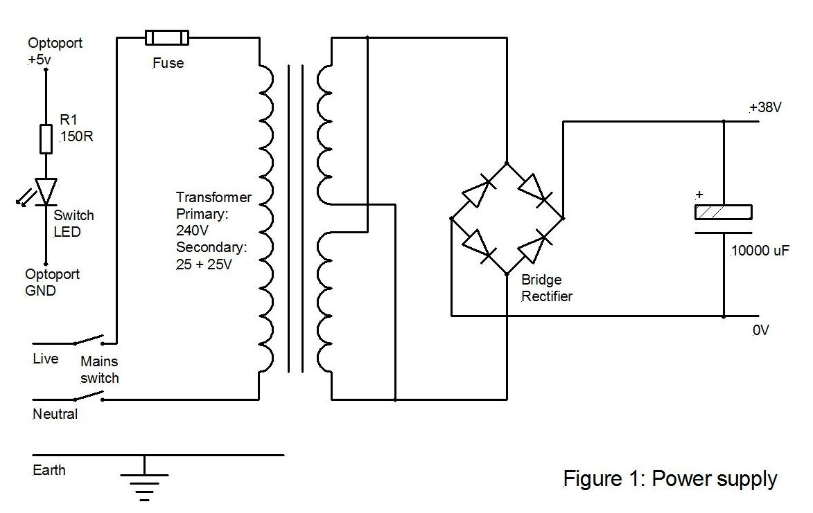 hight resolution of the rest of the wiring for the power supply is pretty straightforward however take care to connect the bridge rectifier correctly and the electrolytic