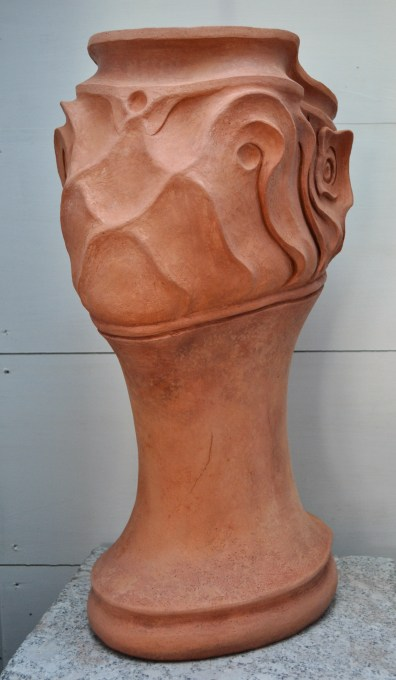 "Satyr, terracotta, 20"" high 2016"
