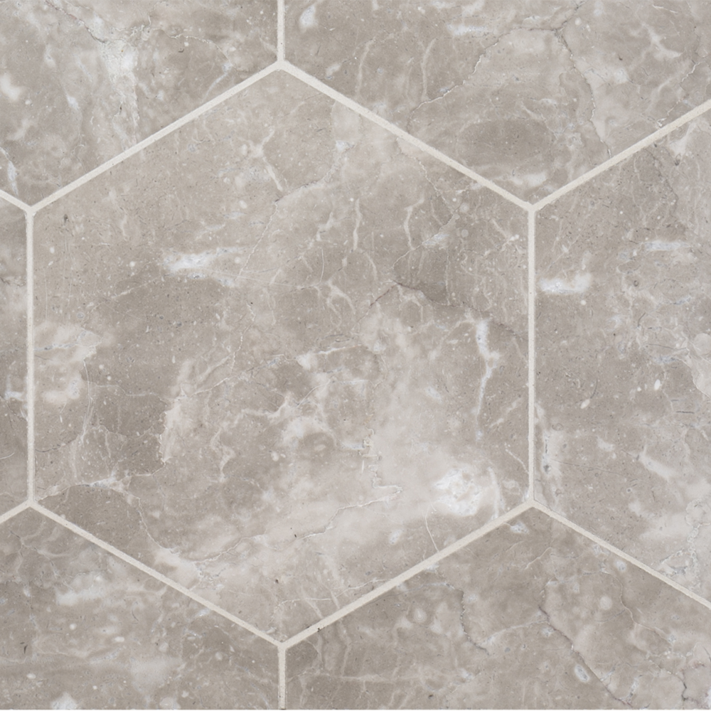 8 x 925 Natural Stone Hex Field Tile  Brown  Jeffrey