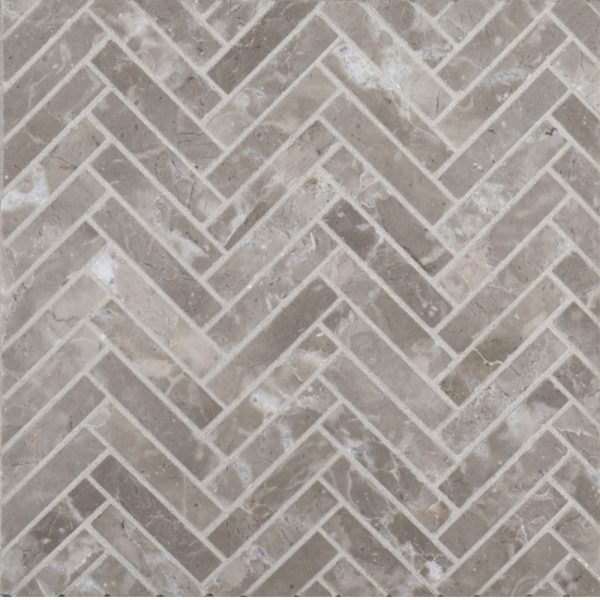 10875 X 11375 Natural Stone Herringbone Styx Grey