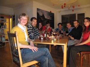 Sunday night dinner at Kirk's House