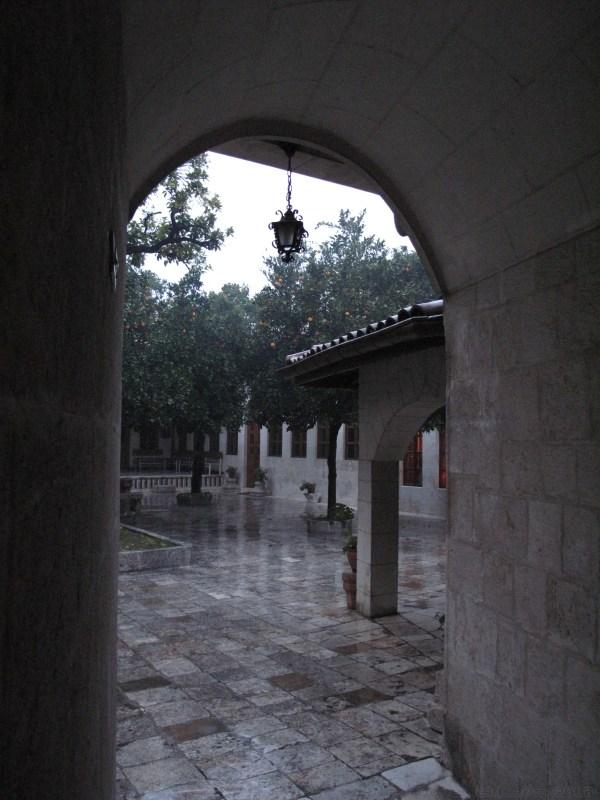 Catholic church courtyard in Antakya