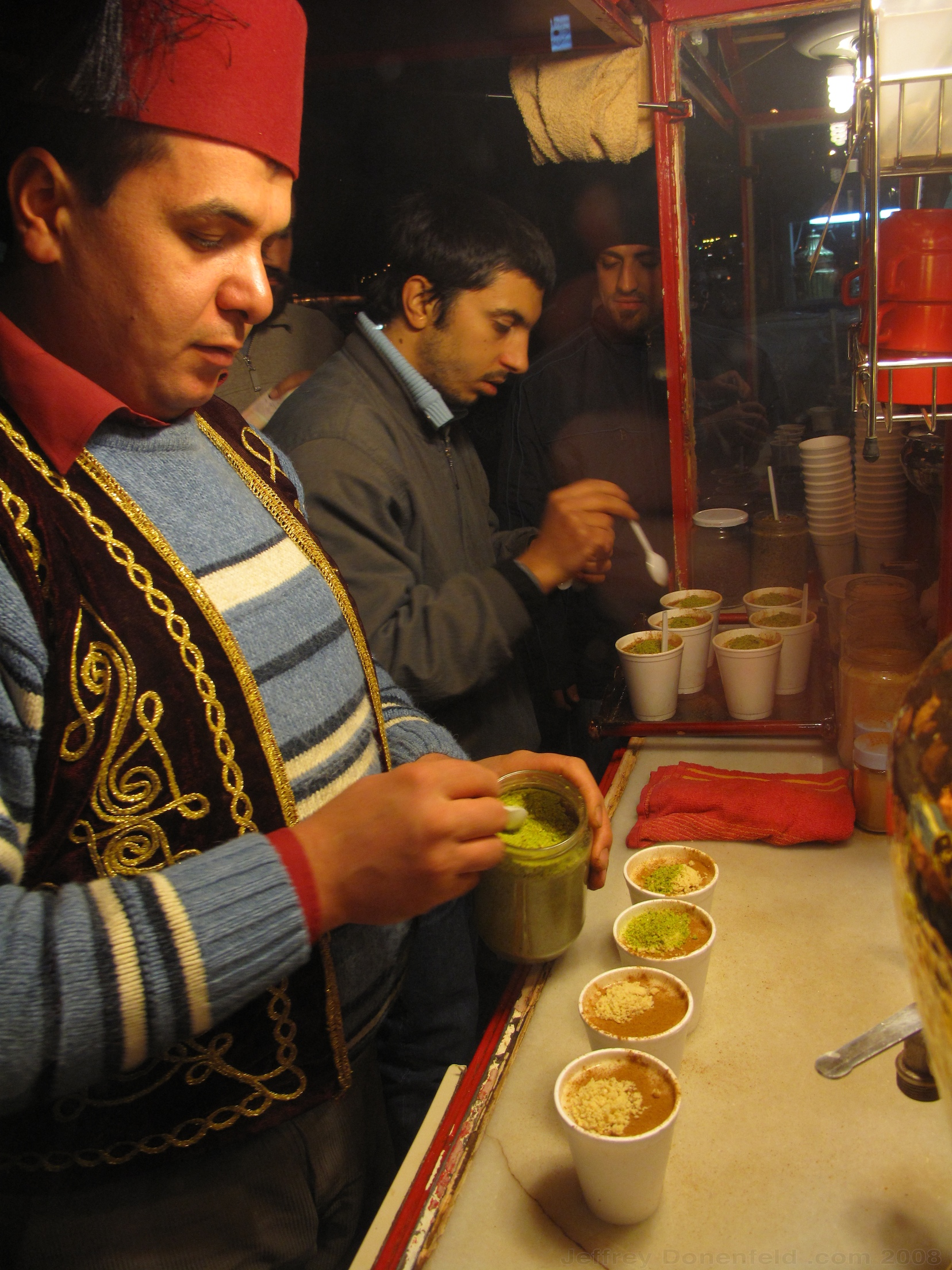 Getting Sahlep in Antakya