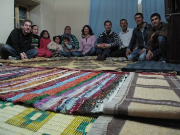 Us with our Turkish friends in Yesemek