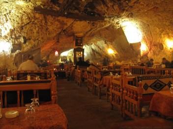 The cave restaurant in Sanliurfa