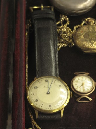 An antique Zenith watch for sale at the market in Istanbul