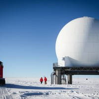 The South Pole's Satellite Communications Link: The Golf Ball