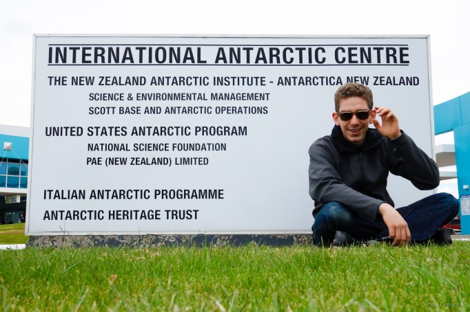 Outside the International Antarctic Centre in Christchurch, New Zealand. This is the New Zealand office location of the United States Antarctic Program, and serves as the departure point to the main US Stations - McMurdo and Amundsen-Scott.
