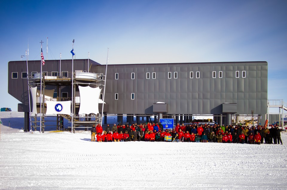 The entire South Pole Station Summer 2012-13 Crew.