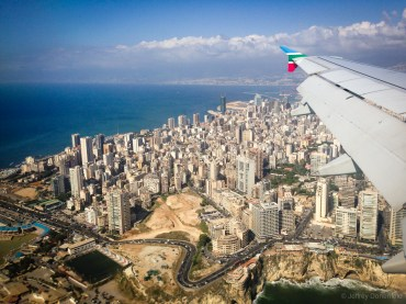 Arriving in Lebanon, the city is built up, and relatively clean.