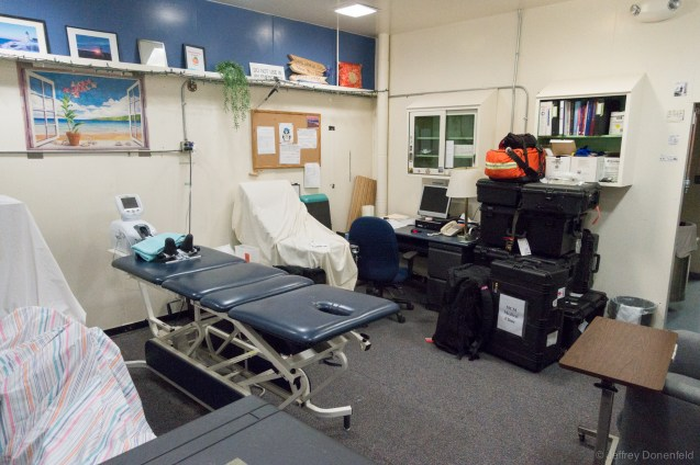 Physical therapy room. Although this room is not completely setup at the moment, it can be reconfigured to a compled PT gym.