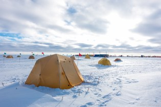 Tent City is a short walk from the center of camp.