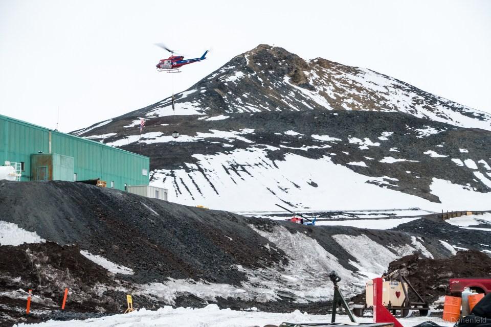Bell 212 slingloading at McMurdo