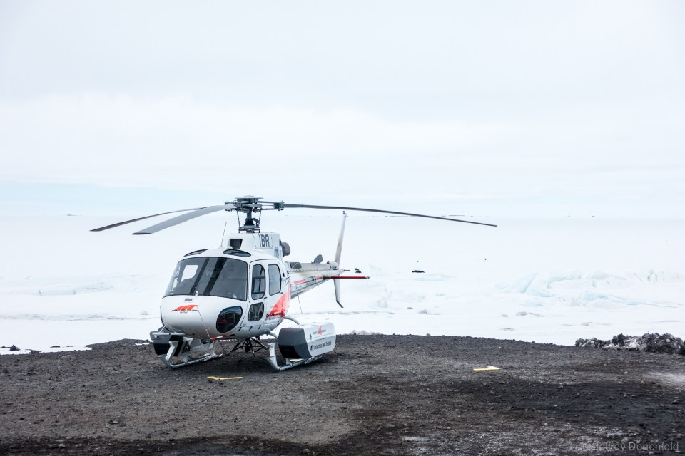 New Zealand's antarctic helicopter, a Eurocopter AS350 B2, based out of Scott Base, just around the corner from McMurdo Station.