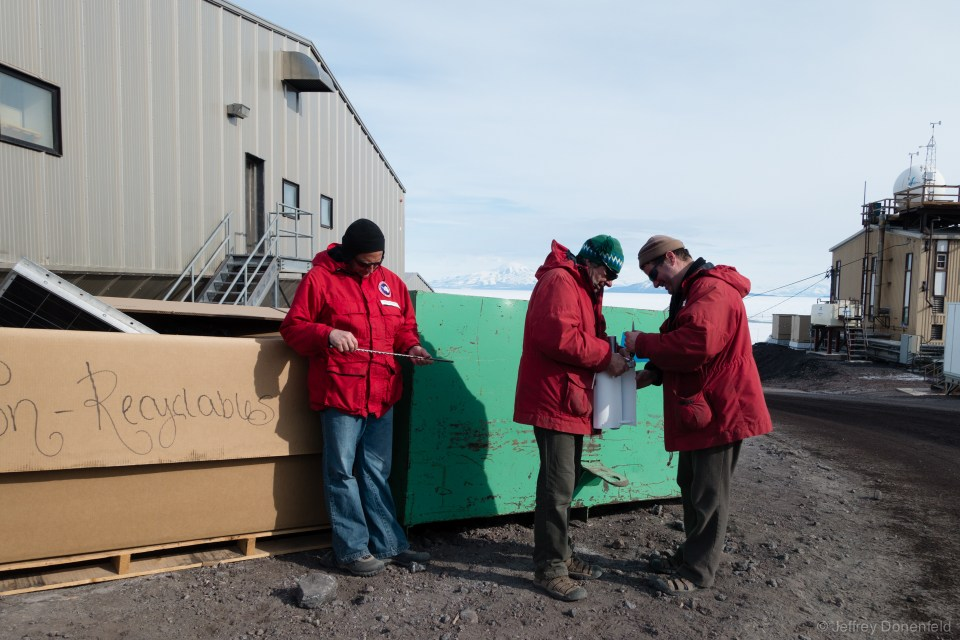 In addition to taking lots of hikes, we also explore town quite a bit. Dumpster diving in McMurdo is a whole sport, especially just otuside of the Crary Laboratory, where all sorts of interesting science gear is discarded.