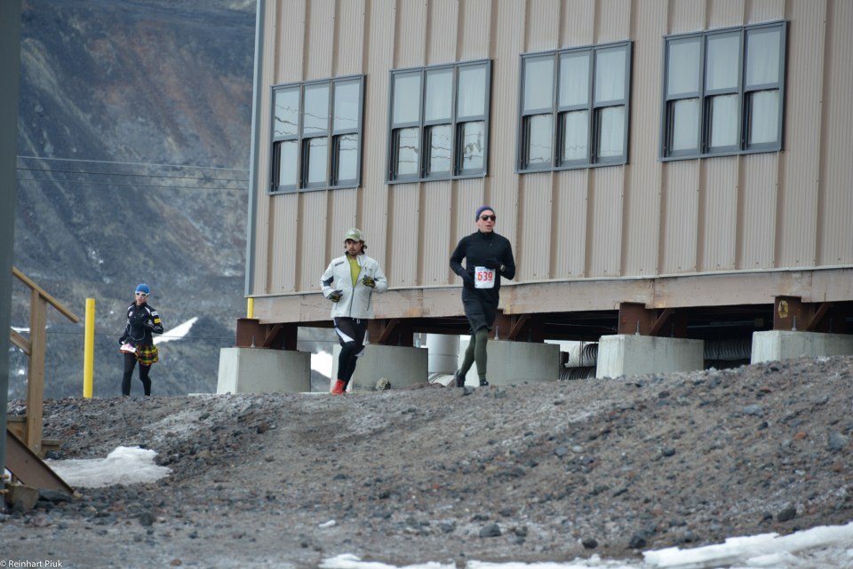 Me running around one of the dorm buildings, midway through the Scotts Hut 10K.